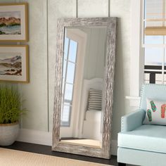 Beckette Hammered Bathroom/Vanity Mirror By Rosecliff Heights Tall Mirror, Leaning Mirror, Round Wall Mirror, Rustic Full Length Mirror, Full Length Mirror Placement, Contemporary Full Length Mirrors, Distressed Bathroom Vanity, Traditional Wall Mirrors, Ideas