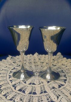 F.B. Rogers Silver Plate Cordial  2 Small Wine by TiesofMyFather, $22.00