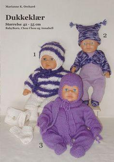 Oppskrifter på dukkeklær Knitting Dolls Clothes, Doll Clothes, Baby Born Kleidung, Diy Buttons, Mason Jar Diy, Ag Dolls, Diy Doll, Kids And Parenting, Knitting Patterns