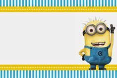 The astounding Despicable Me: Invitations And Party Free Printables Pertaining To Minion Card Template photograph below, is segment of Minion … Minion Baby Shower, Minion Classroom, Minion Birthday Invitations, Minion Card, Despicable Me Party, Minion Theme, Baby Shower Invitation Templates, Invitation Wording, Printable Invitations