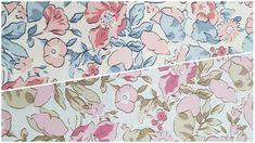 Cuarto gordo Algodón Popelín con aerosoles vintage de flores en crema o Té