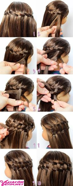 Last year I did a post on how to do a Waterfall Twist. American Girl Parties, My American Girl Doll, American Girl Crafts, American Girl Clothes, Ag Doll Hairstyles, American Girl Hairstyles, Barbie Hairstyle, Waterfall Twist, Girl Hair Dos