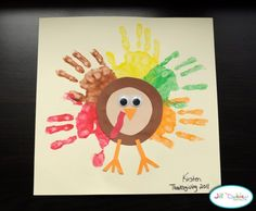 Thanksgiving crafts    Love the hand idea for the relative that would be touched or not expecting it.  Frame it for better presentation!
