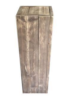 Zuil van steigerhout - Brownwash (30x30x100cm)