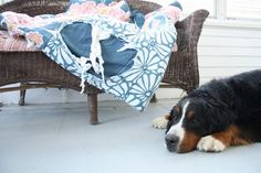 Turn old comforter into dog bed.