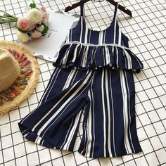 Buy Stripe Girls Summer Two Pieces Set online with cheap prices and discover fashion Toddler Sets at Little Boy Fashion, Baby Boy Fashion, Toddler Fashion, Kids Fashion, Fashion Clothes, Fashion Jewelry, Fashion Purses, Cheap Fashion, Fashion Dolls