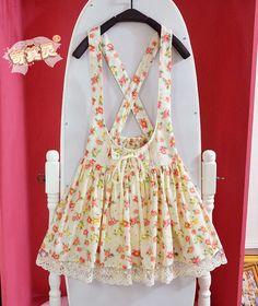 ☆ Floral Suspender Skirt ☆