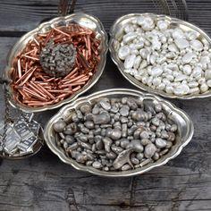 Scrap silver made of pure silver and copper