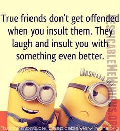 Funny Minion Meme About Friends Funny Minion Memes, Minions Quotes, Funny Jokes, Minions Minions, Fun Funny, Hilarious, Minion Rush, Minion Sayings, Purple Minions