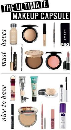 The Ultimate Makeup Capsule! All of the products you'll want in a simple makeup collection! 10 must-haves, and 10 nice-to-haves.
