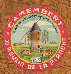 INDRE ET LOIRE ETIQUETTE CAMEMBERT PARCAY SUR VIENNE MOULIN MILLS VARIANTE   eBay