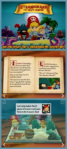 Rah, rah for independent, free-spirited girls!! Great new interactive story app - Strangebeard, the Pirate Princess. #apps #kids