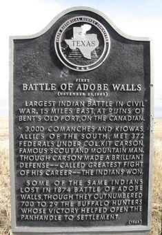 First Battle of Adobe Walls Texas Historical Marker (November Adobe Walls, Hutchinson County, Texas Quanah Parker, Republic Of Texas, Loving Texas, Texas Pride, Lone Star State, Texas History, Texas Travel, Texas Rangers, American Indians