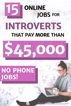 If you are looking for high-paying jobs for introverts, check out this list. There are plenty of jobs like that that can be done remotely from home. Online Jobs From Home, Work From Home Jobs, Online Work, Make Money Fast, Make Money From Home, Job Work, Earn Money Online, Introvert, Extra Money