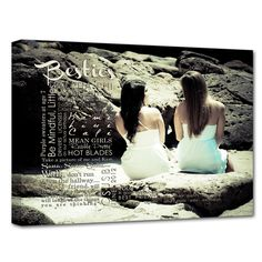 Show your Best friend how much you mean to them with a custom photo and word art canvas.
