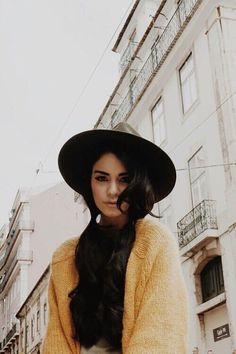 Vanessa hudgens | portrait desaturated color pop yellow pale tinted portugal