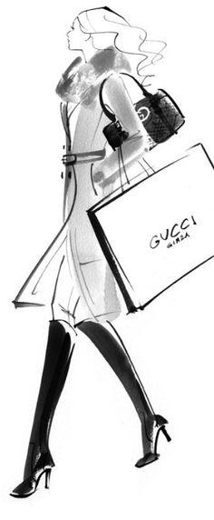 Fashion illustration by Yoco Nagamiya. (J)
