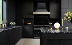All about Quartz and Granite stone countertops and solid slabs. Rustic Kitchen Design, Kitchen Decor, Kitchen Ideas, Kitchen Layout, Kitchen Designs, Brown Granite Countertops, Granite Stone, Black Counters, Brown Cabinets