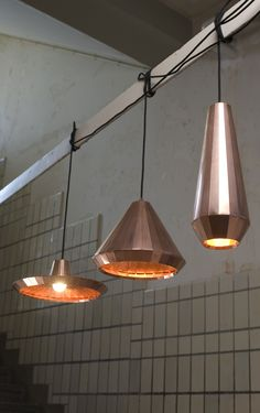 #ARTmetal © ideas. www.aias.se Copper Lights by DAVID DERKSEN The Copper Lights are a translation of the Copper Cabinet into more functional products. The bending and soldering techniques have been perfected, resulting in delicate, but very useful lamps, which can be produced in series. The three different shapes make them suitable for different applications in the interior. Sizes: 400 * 150 mm, 250 * 300mm, 190 * 380 mm Materials: copper foil 0,1 mm, solder Handmade, produced on request