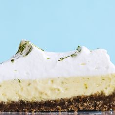 Using coconut oil in place of some of the butter suggests hints of the tropics, and yogurt folded into the whipped cream reinforces the tang of the lime juice.