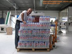 bottles made from CM-A4 full automatic blow molding machine, 4 cavities, about 3800bph