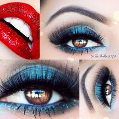 Really pretty bluee http://makeupbag.tumblr.com/