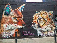 Street art at London's Brick Lane.  A selection of my favourite street art in Europe: http://www.europealacarte.co.uk/blog/2013/12/06/street-art-europe/
