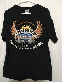 6bc44e31 Thunder Beach Panama City Beach 2010 Rally sz L #gilden #GraphicTee Panama  City Beach