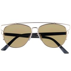 13c0666333 Full metal abstract panto shaped aviator sunglasses that feature a unique  extended brow bar