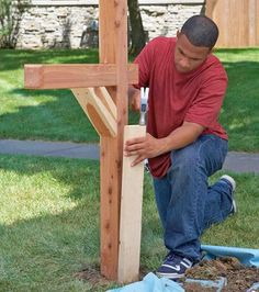 How to build a mailbox post. How to build a mailbox post. Mailbox Stand, Diy Mailbox, Mailbox Post, Rural Mailbox Ideas, Mailbox Garden, Outdoor Projects, Home Projects, Outdoor Ideas, Mailbox Landscaping