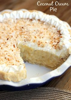 Perfect for the Holidays!  Delicious coconut cream pie- made from scratch!