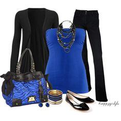 """BLACK & BLUE ~#2"" by happygirljlc on Polyvore"