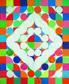 "Braided World from Happy Stash Quilts. This bright and easy ""Flip & Fuse"" quilt measures 45"" x 54""."