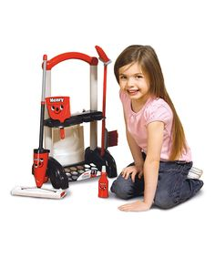 Loving this Henry Cleaning Trolley Toy Set on #zulily! #zulilyfinds