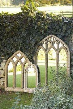 Jardim Espelhos. Amo essa idéia! | A1 Pictures