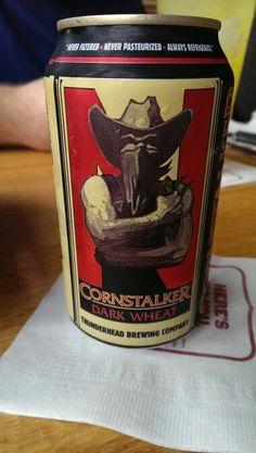 Cornstalker, dark wheat, Thunderhead Brewing Co. Kearney, Nebraska.
