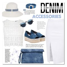 """Jean-ious Accessories"" by j-sharon ❤ liked on Polyvore featuring Cara, Topshop, Monsoon, Christian Dior, Miu Miu and denim"