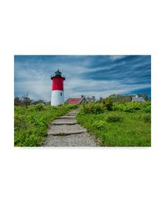 Trademark Fine Art 'Path To The Light Red And White' Canvas Art by Michael Blanchette Photography, Size: 16 x 24 White Canvas Art, Art Themes, Outdoor Entertaining, Artist Canvas, Baby Clothes Shops, Canvas Size, Red And White, Black, Paths