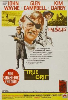 "Cent Dollars pour un shérif ""True grit"" (Henry Hathaway) 1969 Wayne Campbell, Glen Campbell, True Grit Movie, Robert Duvall, Best Movie Posters, Movies Worth Watching, Hooray For Hollywood, Movie Lines, Cinema"