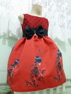 Vestido Ladybug Infantil Vestido De Festa Tema Ladybug.