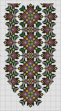 Simple Cross Stitch, Beaded Cross Stitch, Cross Stitch Borders, Cross Stitch Charts, Cross Stitch Designs, Cross Stitching, Cross Stitch Patterns, Folk Embroidery, Embroidery Patterns Free