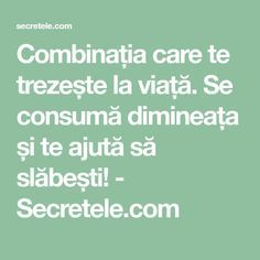 Combinația care te trezește la viață. Se consumă dimineața și te ajută să slăbești! - Secretele.com Math Equations, Health, Workout Exercises, Sports, Health Care, Salud