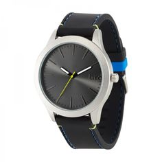 Moda Watch - Black/Gun/Royal Blue