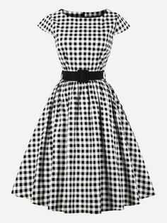 dc2801c685 Take a look at this Black   White Gingham Fit   Flare Dress - Women today!