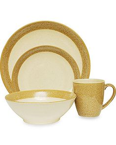 Sango Sango Malibu Gold 16-Piece Dinnerware Set from Bed Bath u0026 Beyond | BHG  sc 1 st  Pinterest : maxwell and williams sprinkle dinnerware - pezcame.com