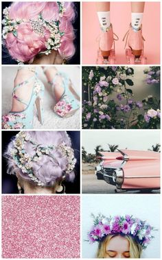 Pastel floral aesthetic moodboard for nymphs, fairies & witches aestheticcollage Witch Aesthetic, Aesthetic Collage, Sylveon Cosplay, Spring Aesthetic, Anklet Tattoos, Pastel Outfit, Pastel Fashion, Cyberpunk Art, Pastel Floral