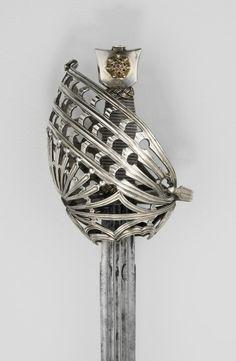 Hilt by Master VG Italian, Venice Basket-Hilted Broadsword (Schiavona), c. 1790/1800