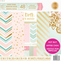 Piece American Crafts Specialty Paper Pack x 12 inch Large Chevron Color Foil