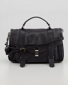 PS1 Medium Leather Satchel Bag, Black by Proenza Schouler at Bergdorf Goodman.