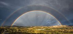 Double rainbow over Israel ✡God keeps His promises.
